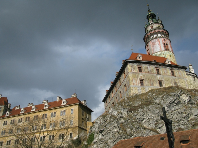 Castle tower at Cesky Krumlov